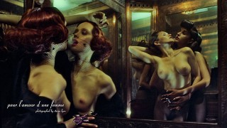 Erotic boudoir fashion models music video